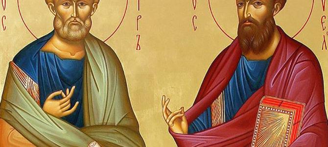 Святые апостолы Петр и Павел: икона, молитва, день празднования